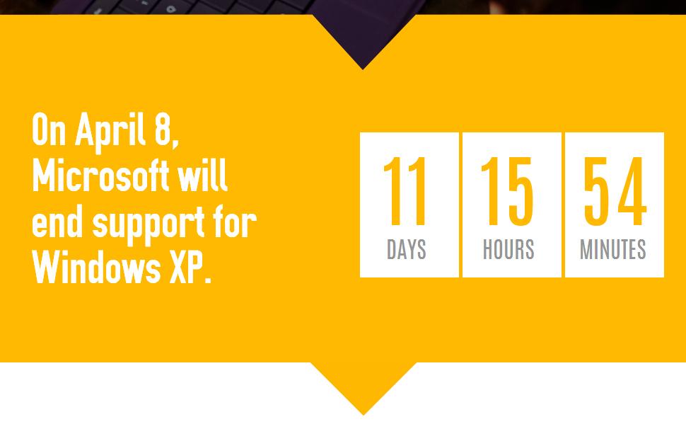 Windows XP c'est (presque) fini !