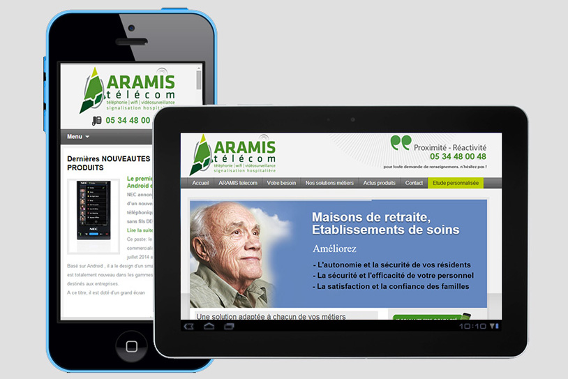 Site Internet Aramis télécom