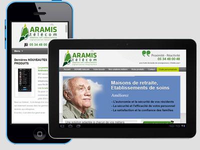 Site Internet Aramis Telecom