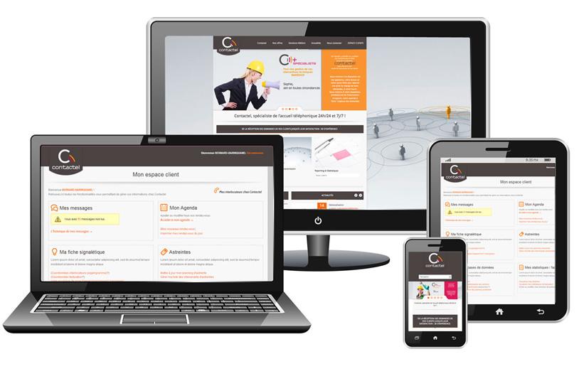 Création de site Internet pour Contactel
