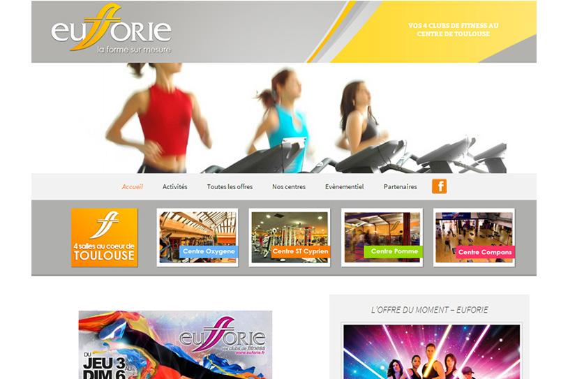 Site internet pour les salles de sports Euforie