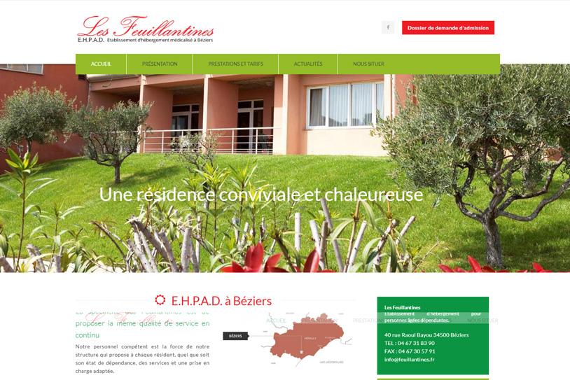Création site internet Maison de retraite Les feuillantines
