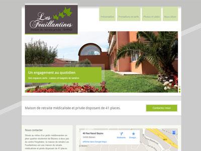 Site Internet Maison de retraite les Feuillantines