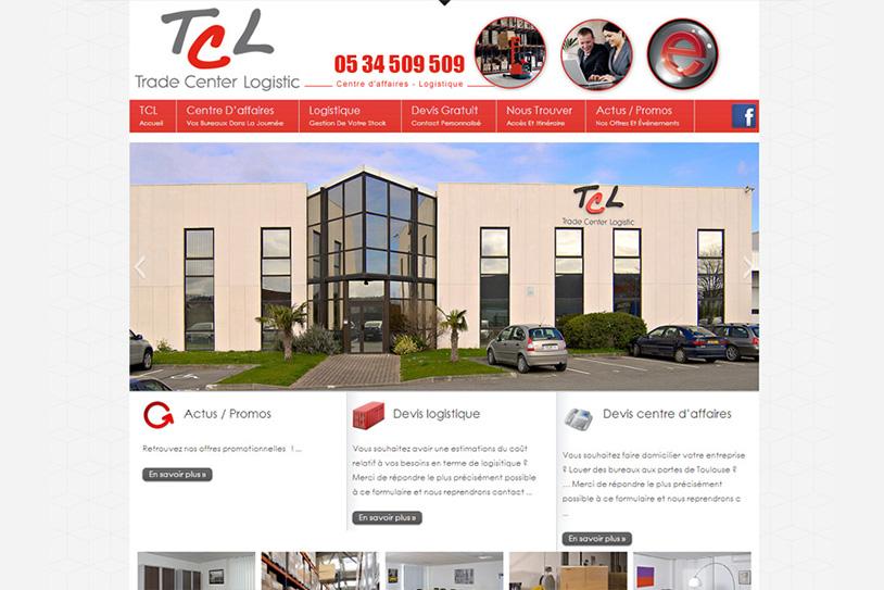 Site internet pour logistique et location de bureaux TCL