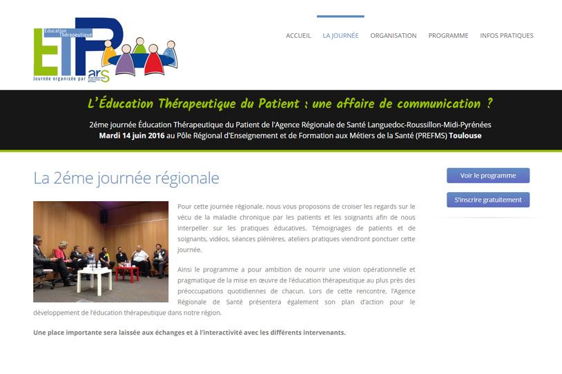 Journée ETP - Site internet