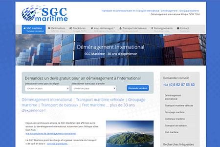 Site Internet SGC Maritime