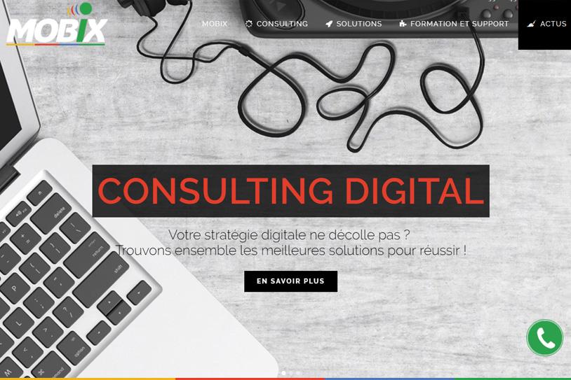 Conception site internet Mobix