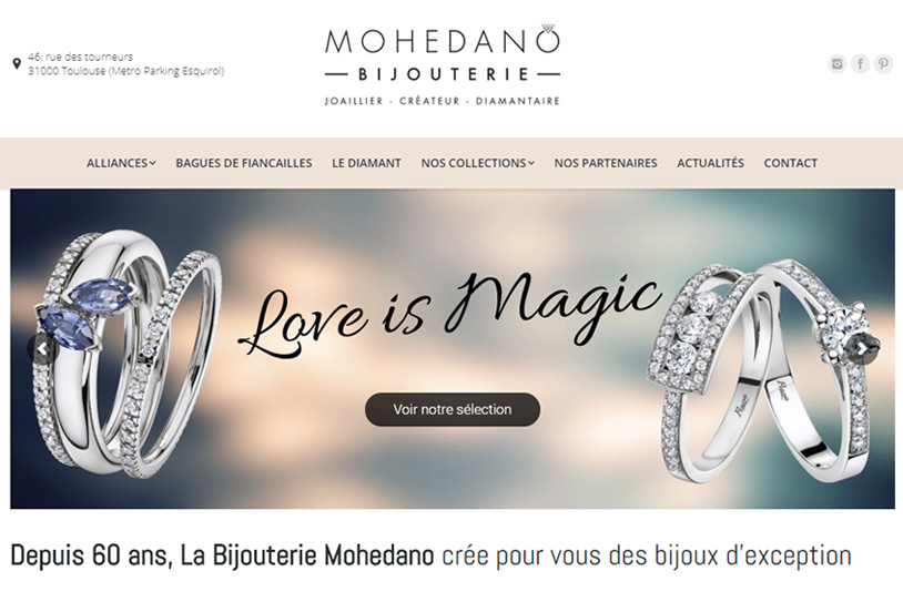 Conception site internet Bijouterie Mohedano