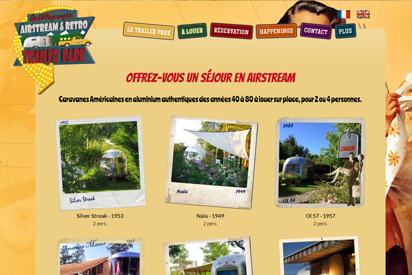 Conception site internet Airstream Europe