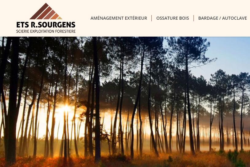 Conception Site internet Scierie Sourgens