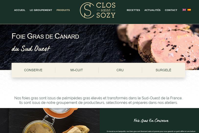 Clos Saint Sozy - Conception site internet toulouse