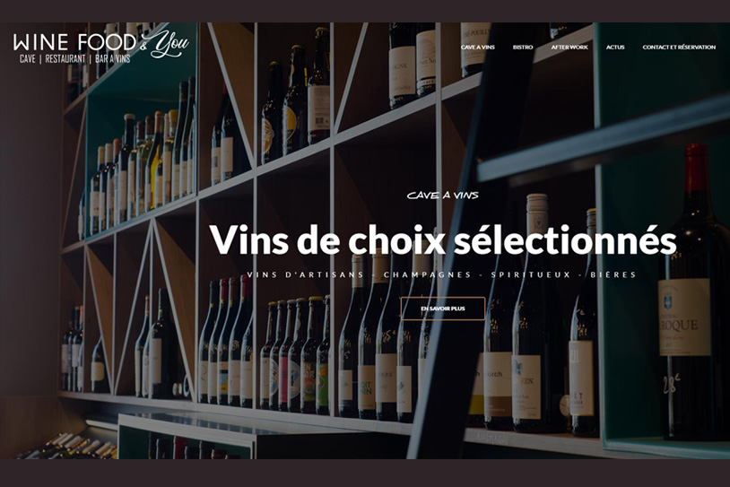 Wine Food & you conception site internet